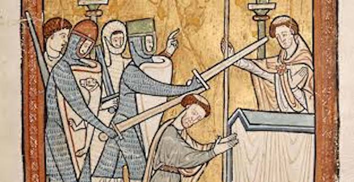Drama of Becket's assassination, back in the cathedral