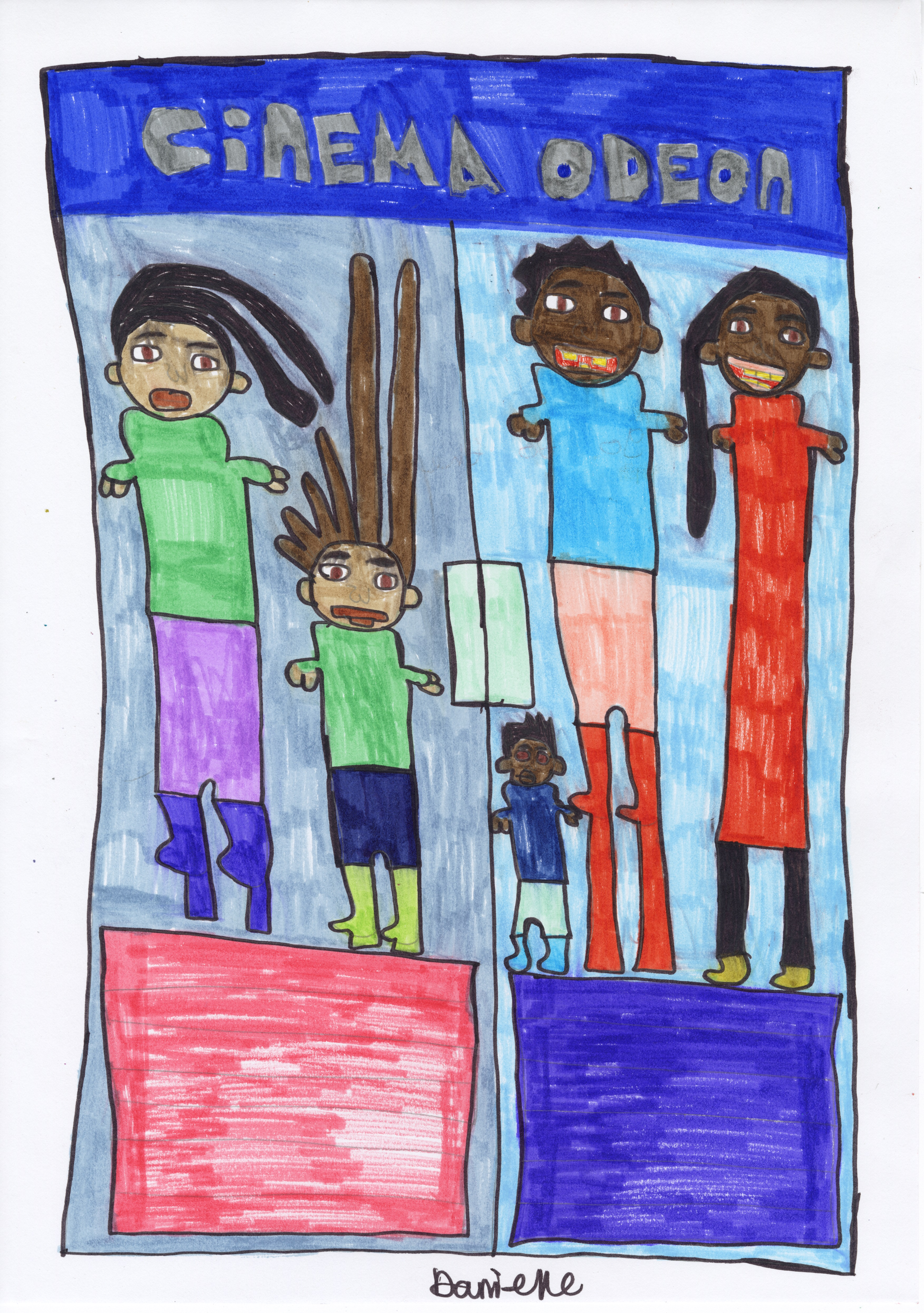 Children depict their lockdown life for exhibition