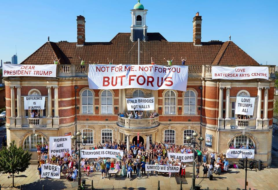 Battersea Arts Centre heralds reopening with Trump protest